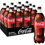 Coca-Cola No Sugar Soft Drink, 12 x 1.25 l