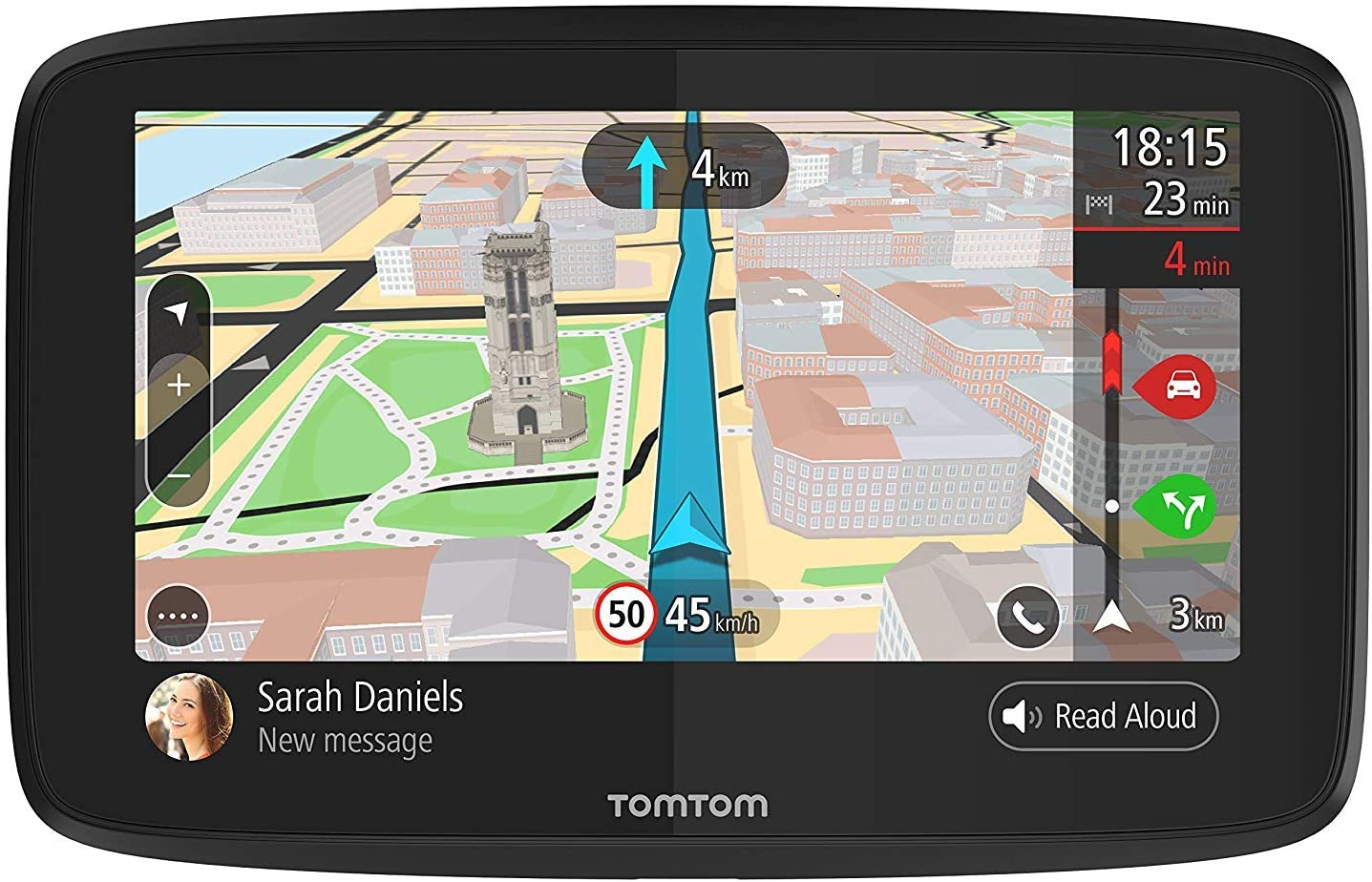 Voice Control and Hands-free Calling Smartphone Messaging TomTom Go 620 6 Inch GPS Navigation Device with Real Time Traffic World Maps Wi-Fi-Connectivity