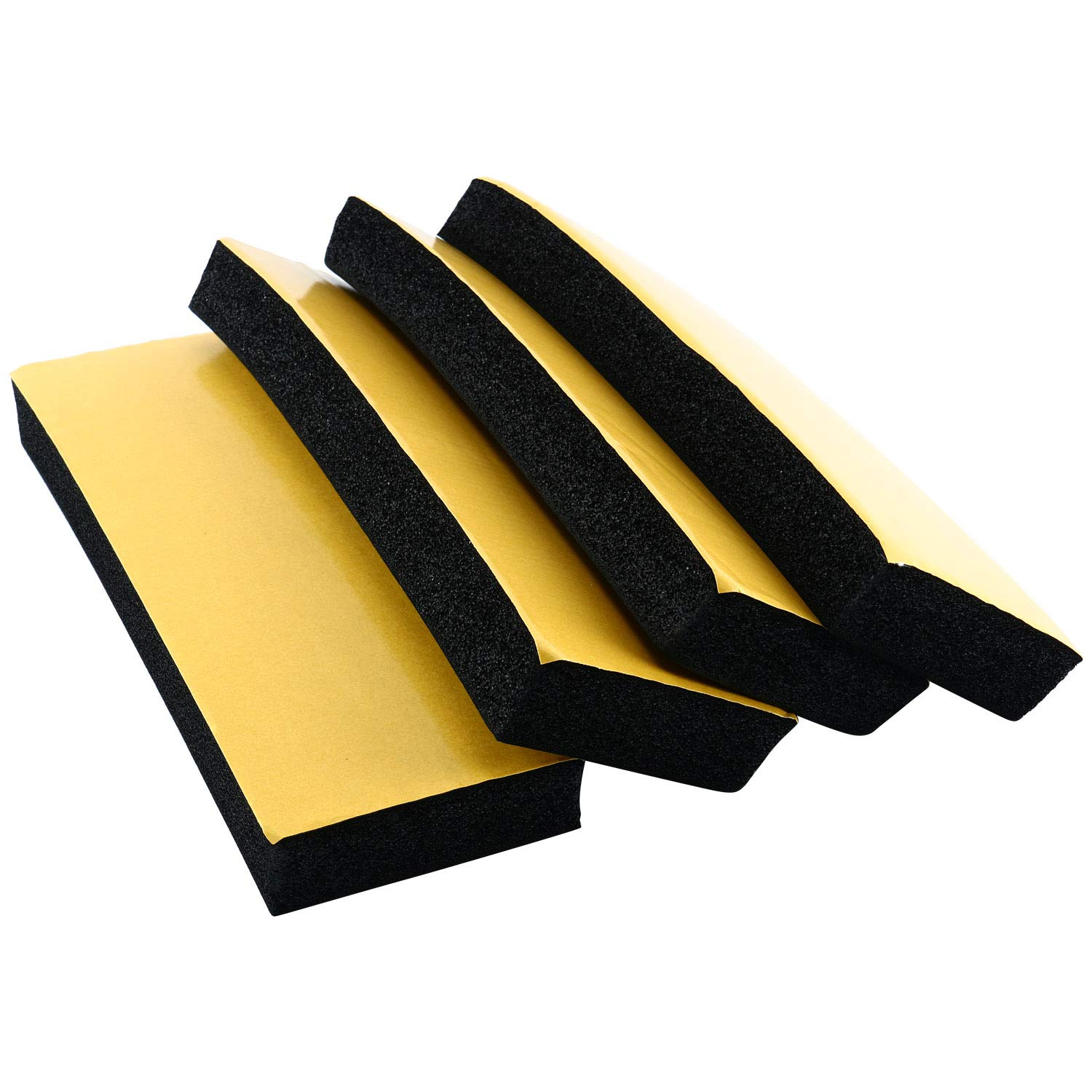 Garage Car Door Bumper Guards 4 PACK High Density Door Bumper & Edge Protector, 12' x 3.9 x 1 Inch - Prevent Damage to Door and Garage Walls 12 x 3.9 x 1 Inch - Prevent Damage to Door and Garage Walls freebirdtrading