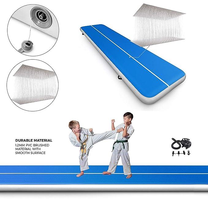 Amazon.com: popsport Alfombras para gimnasia Tumbling Mat ...