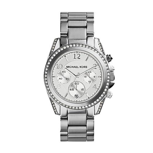 12bb3a706711 Michael Kors MK5165 Women s Stainless Steel Silver Dial Blair Quartz Chronograph  Watch  Michael Kors  Amazon.co.uk  Watches