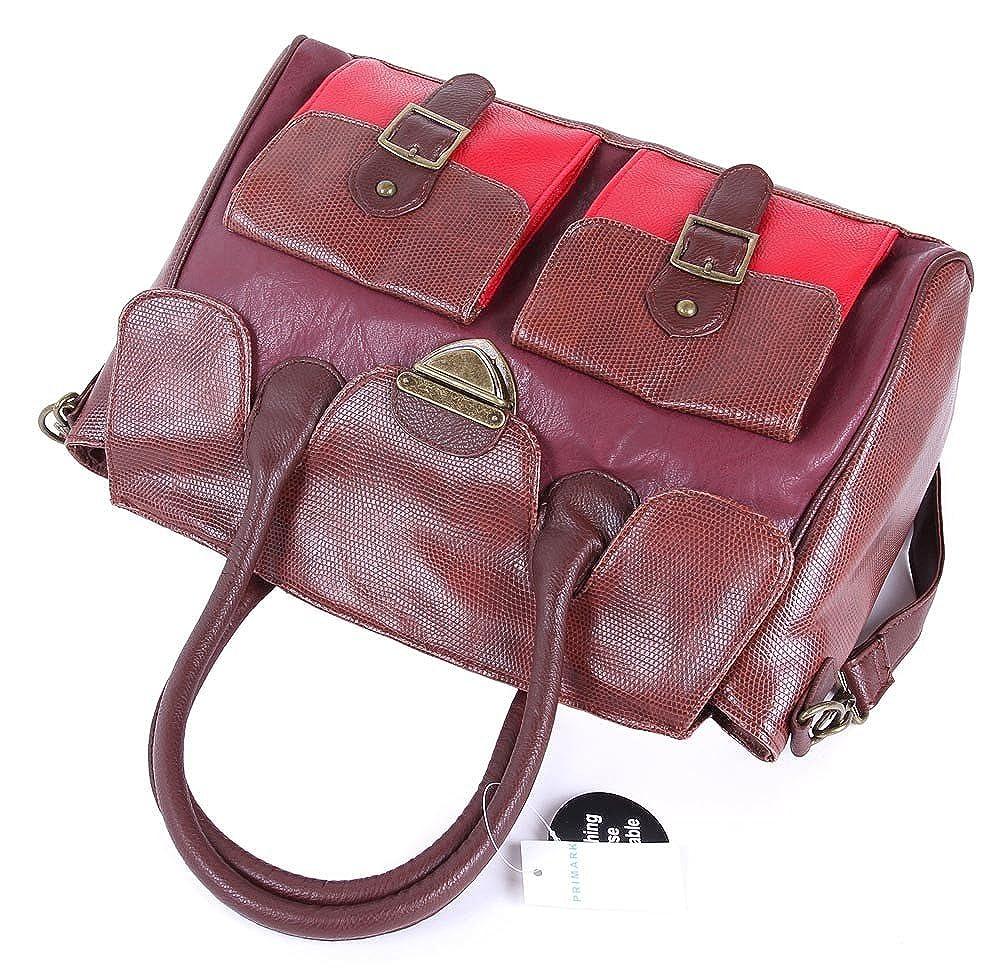 Primark - Bolso de tela para mujer Marrón marrón: Amazon.es: Ropa y accesorios