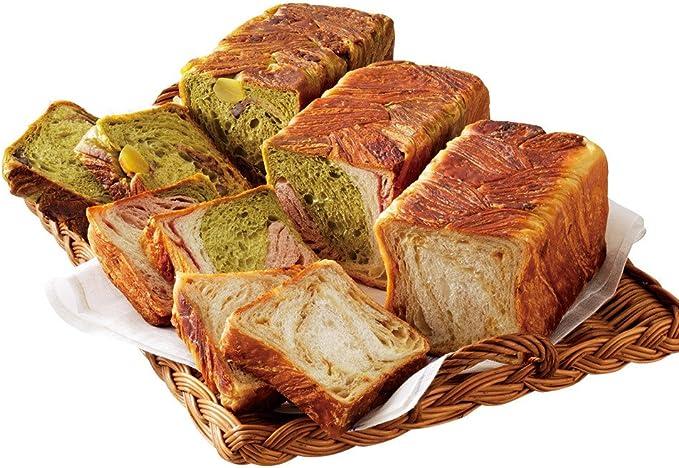食パン マーブル メープル味のマーブル食パン