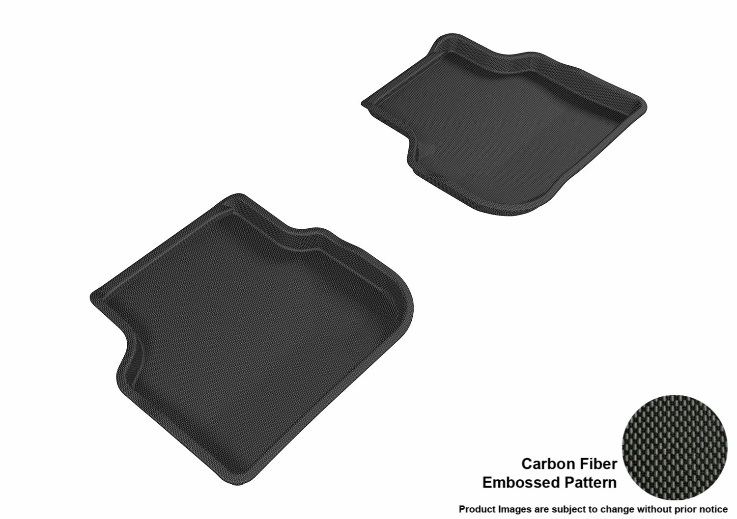 3D MAXpider Second Row Custom Fit All-Weather Floor Mat for Select Volkswagen Jetta Models Kagu Rubber L1VW05521509