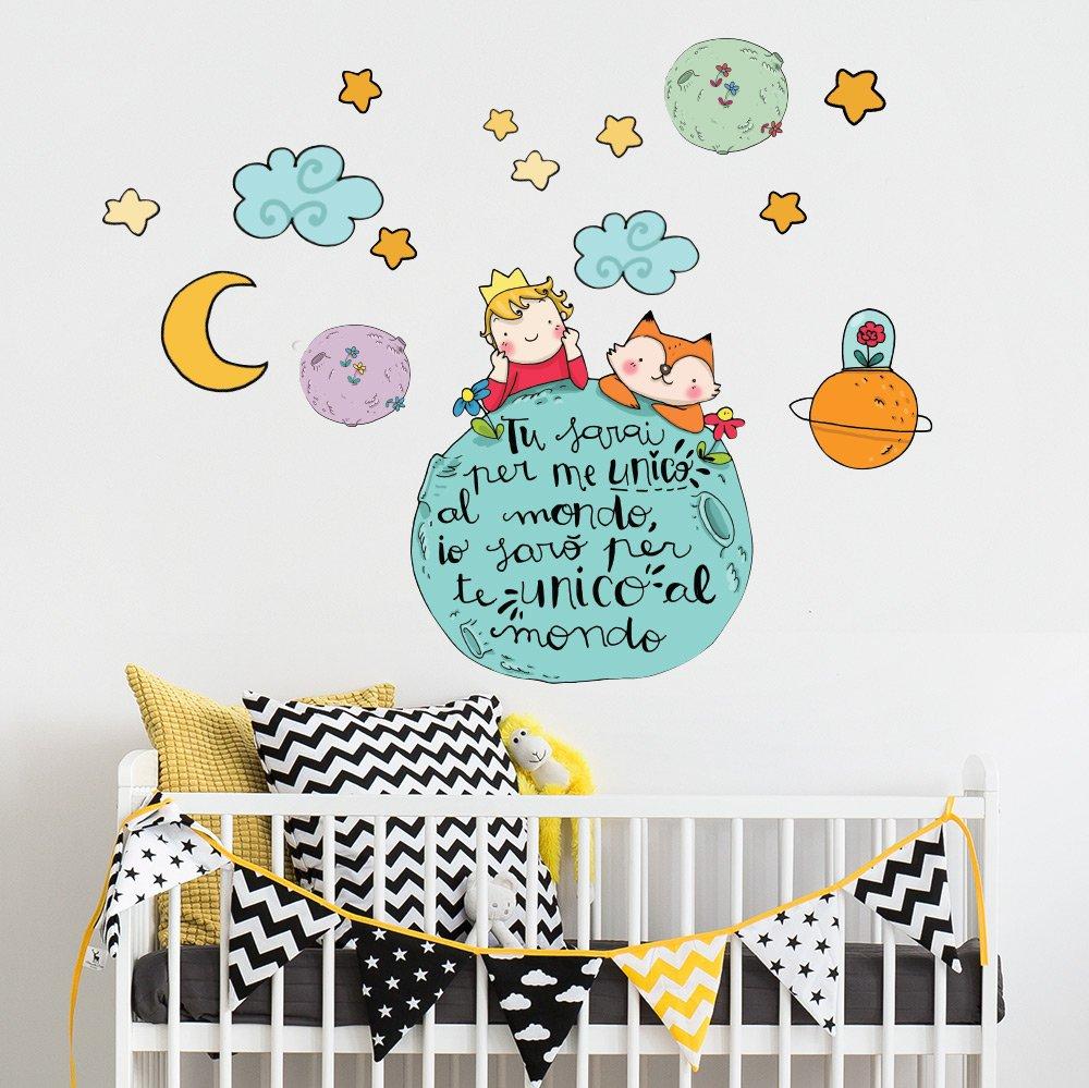 wall art R00370 Adesivo murale per bambini piccolo principe e la ...