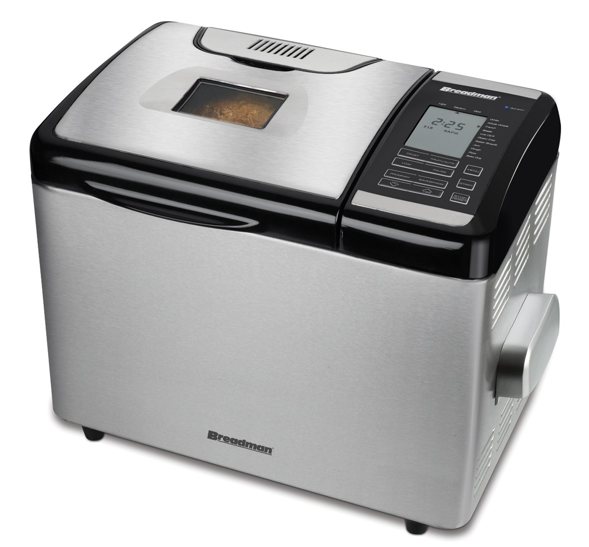 Breadman TR2700 Stainless-Steel Programmable Convection Bread Maker Black & Decker