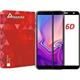 VALUEACTIVE Accessories For All Tempered Glass for Samsung Galaxy J6 Plus (Black)-Edge to Edge Full Screen Coverage
