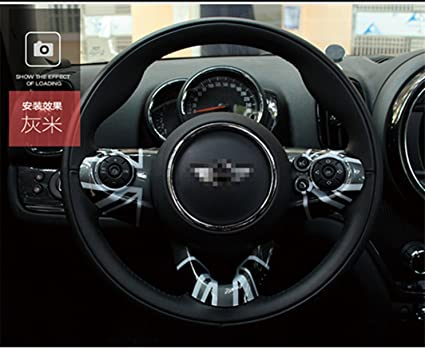 Amazoncom Lvbao Steering Wheel Trim Cover Cap Abs For Mini Cooper