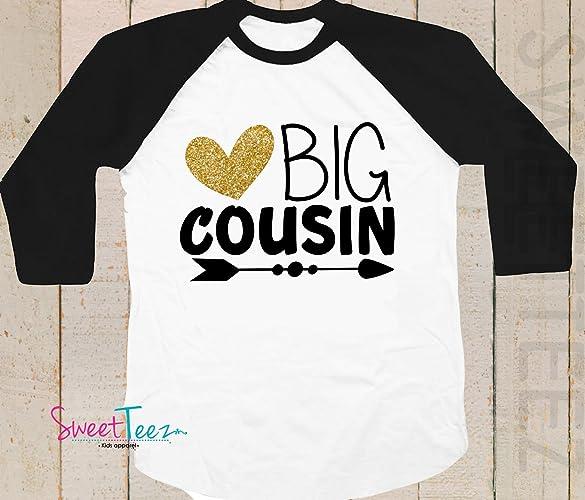 b1bc9bf782a37 Amazon.com: Big Cousin Shirt - Big Cousin Announcement Shirt - Big ...
