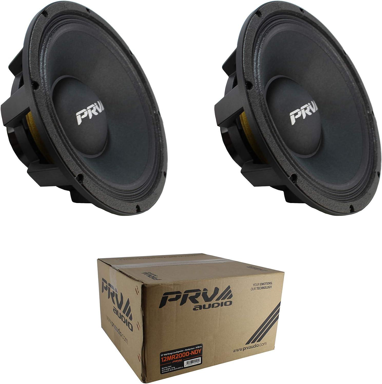 "(2) 12"" Neodymium PRV Full Loud 12MR2000-NDY Midrange Midbass 4000W 8-Ohm Speaker Pair"