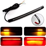 "LivTee Waterproof 8"" Motorcycle LED Light Strip Tail Brake Stop Turn Signal Lights for Motorbike Scooter Quad Cruiser…"