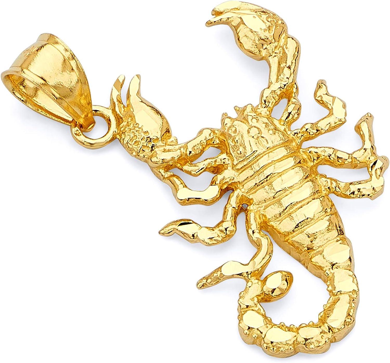 14k Yellow Gold Scorpion Pendant