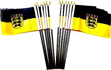 "Puppy Pride 4/""x6/"" Flag Desk Table Plastic Stick Staff Gold Base"