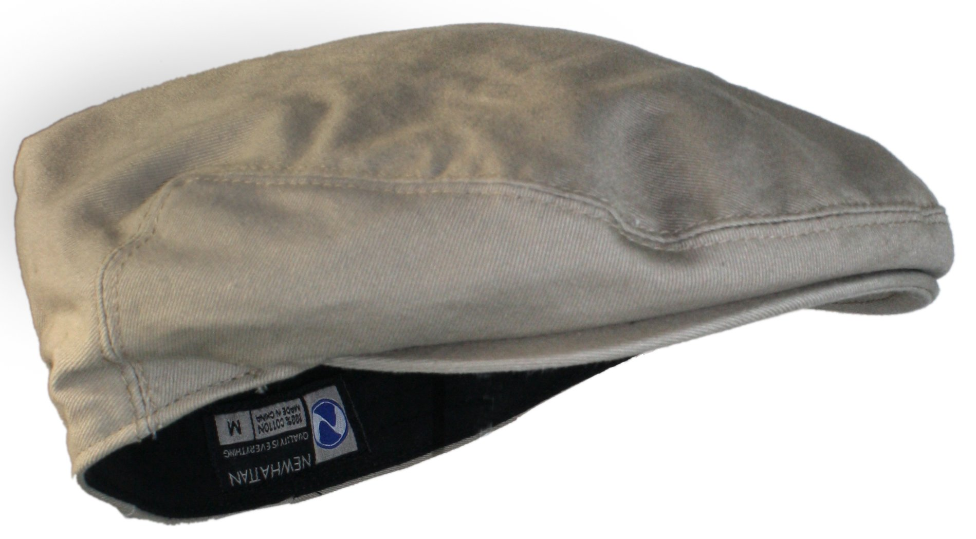 Ted and Jack Street Easy Traditional Solid Cotton Newsboy Cap (Khaki X-Large, Beige)