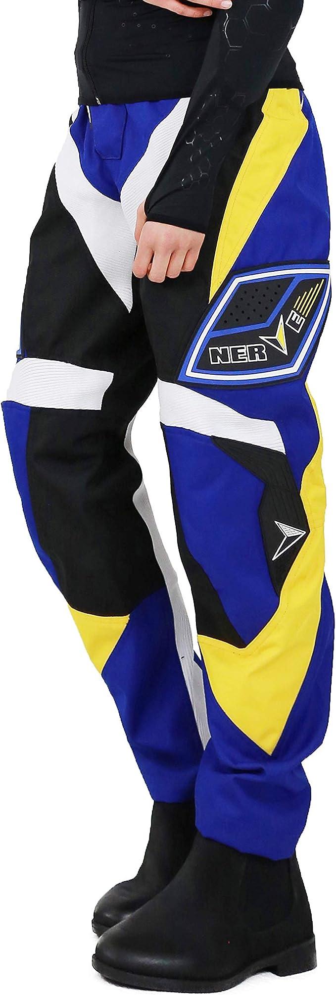 Nerve Shop Motocross Enduro Offroad Quad Cross Hose Herren Damen Schwarz Blau L Auto