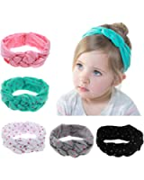 ROEWELL Baby's Headbands Girl's Cute Hair Bows Hair bands Newborn headband (5 pack)