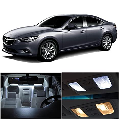 LEDpartsNow 2014 2017 Mazda 6 Mazda6 LED Interior Lights Accessories  Replacement Package Kit (9