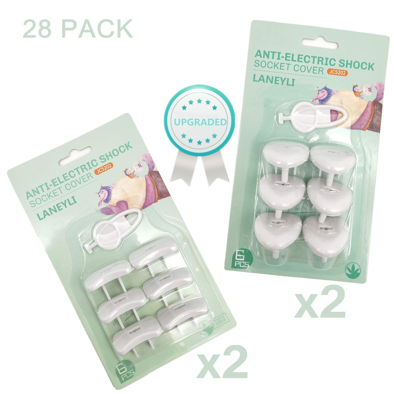 Outlet Covers Baby Safety Outlet Plugs Baby Proofing(24 Plugs + 4 Keys) Electric Socket Protector Caps Kit for Child Safety Anti-Loose Safety Design by LANEYLI