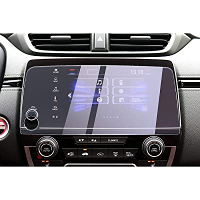 CDEFG Car Screen Protector Center Control Touch Screen Car Navigation Touchscreen Protector for 2020 2020 CRV EX EX-L Touring Tempered Glass HD Shock Resistant Scratch Resistance (7-Inch) (Blue)