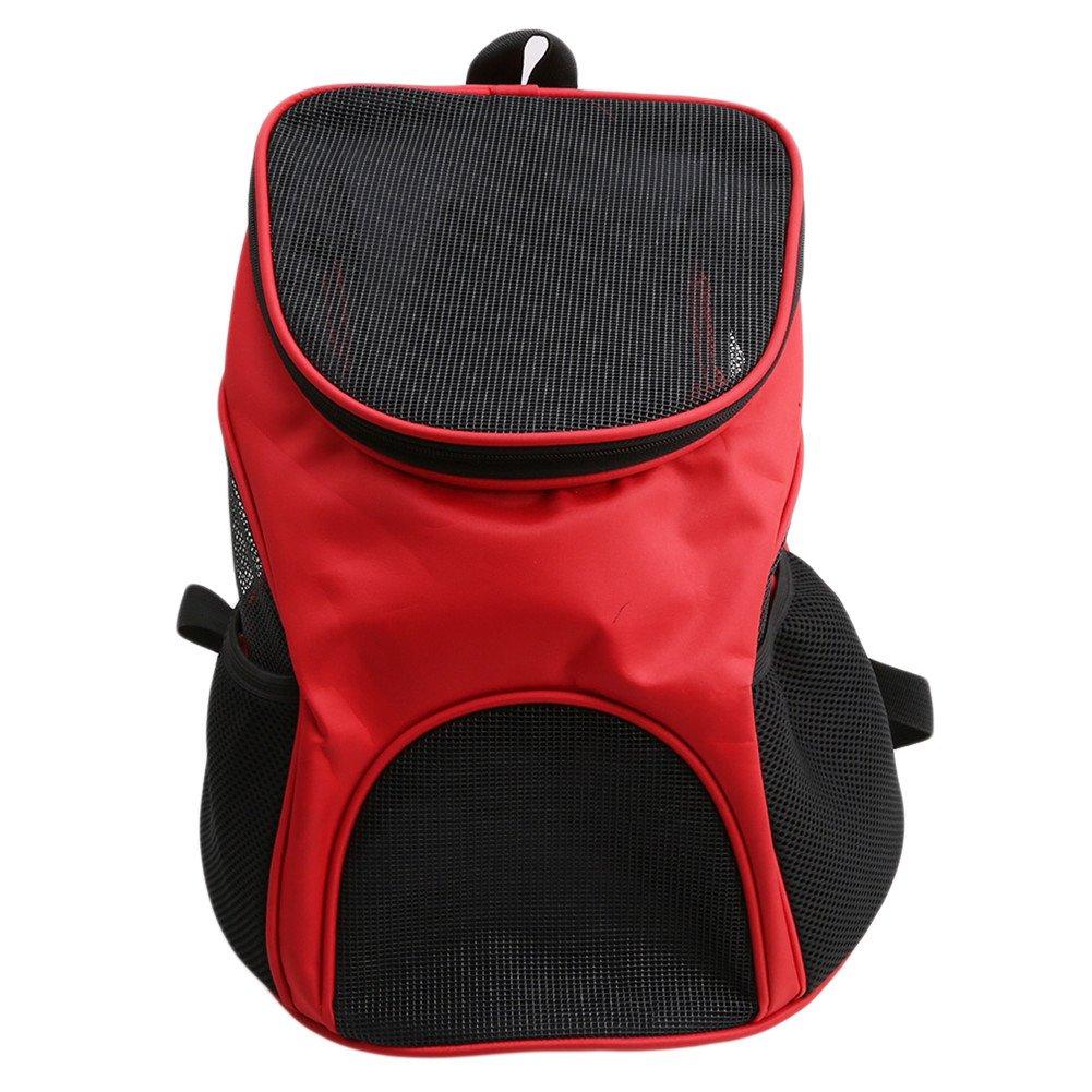 ODN Sac de Transport pour Animal Chien Chat Sac Pliable à Main ou à épaule de Transport en Tissu Oxford (Rouge)