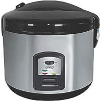 Adler Rijstkoker Pot met Capaciteit van 1,5 liter AD 6406, Zilver, Zwart