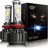 $39 » CougarMotor LED Headlight Bulbs All-in-One Conversion Kit - 9006-10000Lm 6000K Cool…