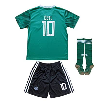 b8fdb7fcd50 New 2018 Germany  10 Ozil Home Away Football Futbol Soccer Kids Jersey  Shorts Socks Set