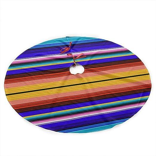 Xmastgdw82 Falda de árbol de Navidad, diseño de Rayas mexicanas ...