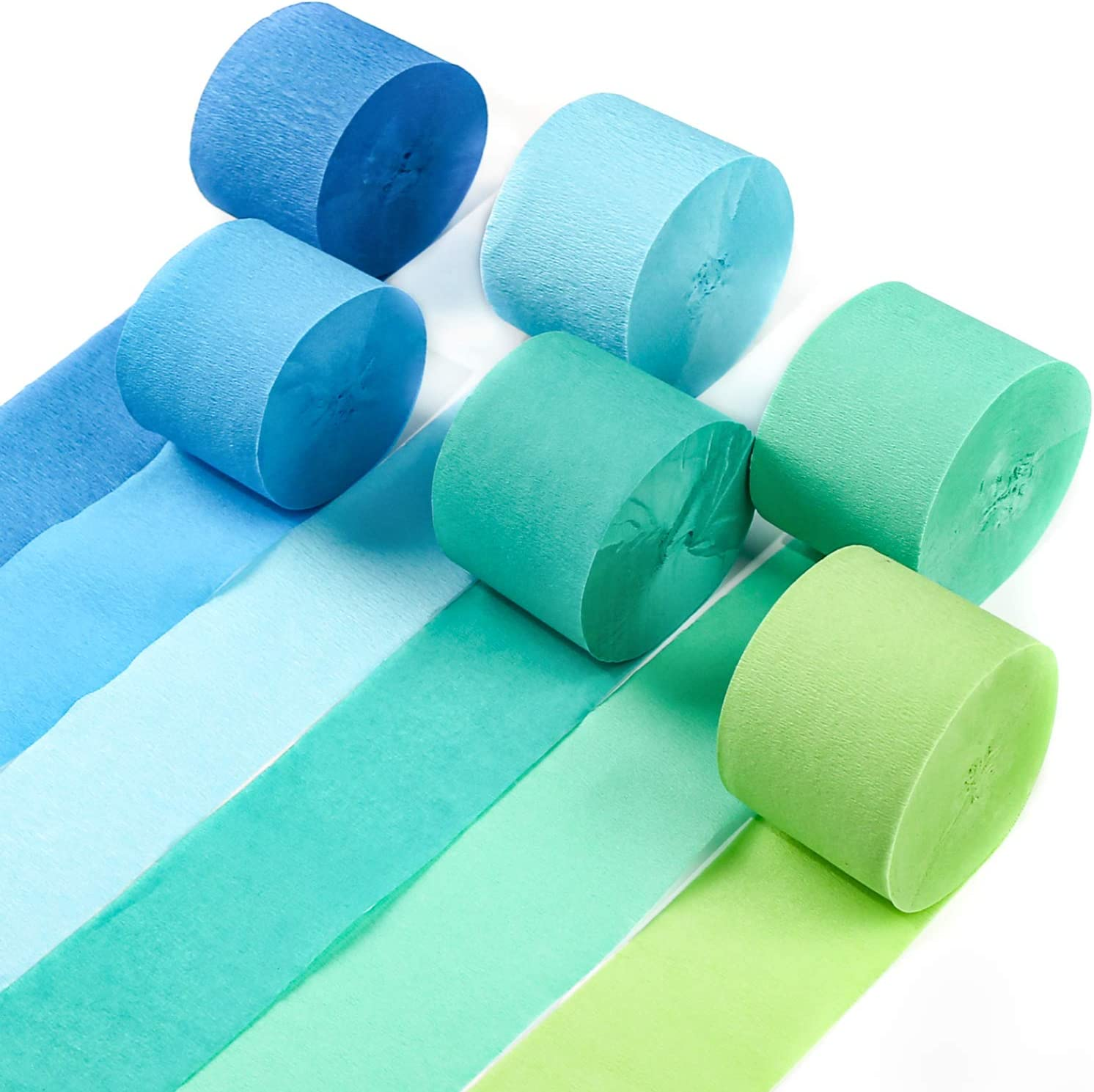 PartyWoo Crepe New York Mall Many popular brands Paper Streamers 6 Green Party 82ft pcs
