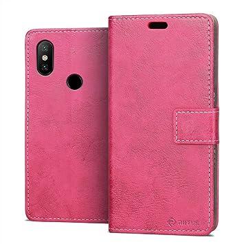 RIFFUE Funda Xiaomi Redmi Note 5, Carcasa Libro Fina con Tapa Folio Flip de Cuero Sintético y Silicona Elegante Retro con Cierre Magnético, Billetera, ...