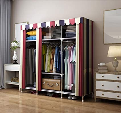 Amazon Com Lj L British Style Cloth Wardrobe Household