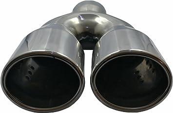 CARTUNER Endrohr Auspuffblende Blende CHROM LOOK 80mm Edelstahl