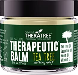 Tea Tree Oil Balm with Neem Oil - Helps Fight Common Causes of Skin Irritation and Helps Soothe Dry, Itchy Skin - by Oleavine TheraTree