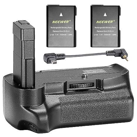 Neewer® - Empuñadura de batería Vertical Profesional con 2 ...