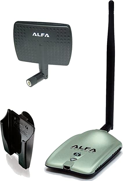 Amazon Com Alfa Awus036nh 2000mw 2w 802 11g N High Gain Usb Wireless G N Long Range Wifi Network Adapter With 5dbi Screw On Swivel Rubber Antenna And 7dbi Panel Antenna And Suction Cup Clip Window Mount Computers