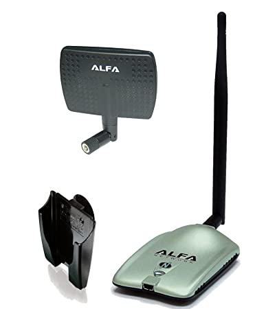 Alfa AWUS036NH 2000mW 2W 802 11g/n High Gain USB Wireless G/N Long-Range  WiFi Network Adapter with 5dBi Screw-On Swivel Rubber Antenna and 7dBi  Panel