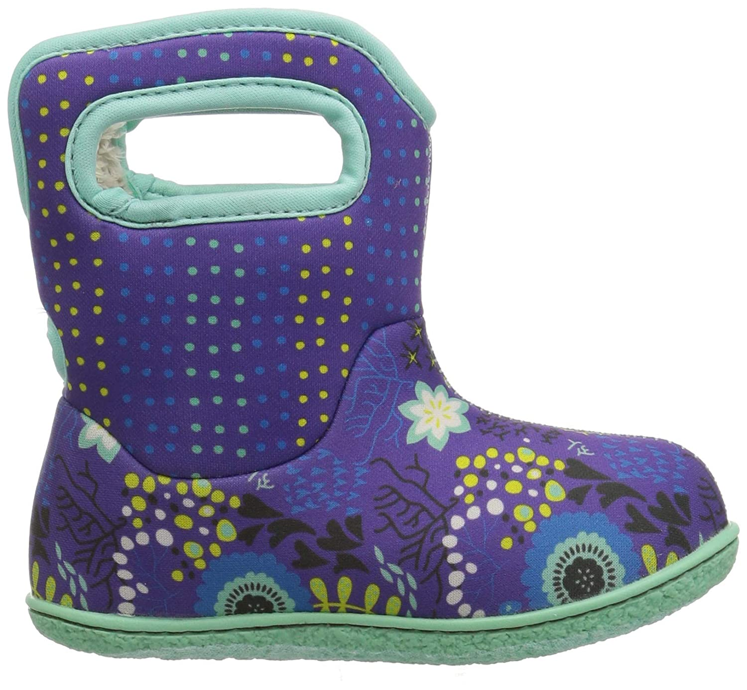 EU 25 Bogs Girls Baby Reef Violet Multi Insulated Washable WARM Wellies Boots 722971-UK 8