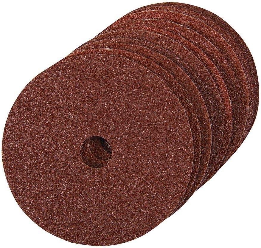 Silverline 571514 10 disques de pon/çage en fibres 100 x 16 mm Grain 36