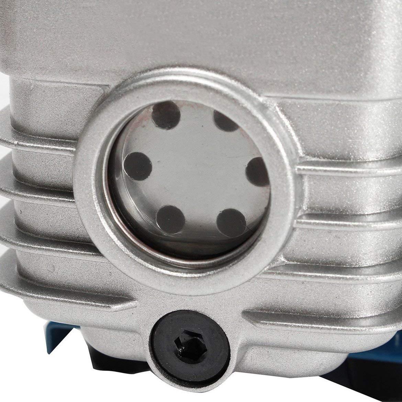 150W 2Pa Une Seule /étape Rotary Mini Vane Pompe /à Vide Haute pr/écision antirefouleur Pompe /à Vide pour l/équipement Climatisation Argent et Bleu