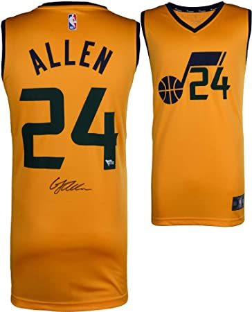 new concept 07dca 59df4 Grayson Allen Utah Jazz Autographed Fanatics Yellow ...