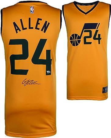 new concept 42a29 f269e Grayson Allen Utah Jazz Autographed Fanatics Yellow ...