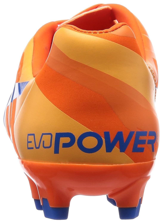 Puma Herren EvoPower 1.2 FG Fußballschuhe, Blanco/Negro/Naranja, 46.5 EU