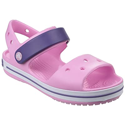 Crocs Childrens/Kids Crocband Sandals/Clogs (2 US) (Carnation/Blue)