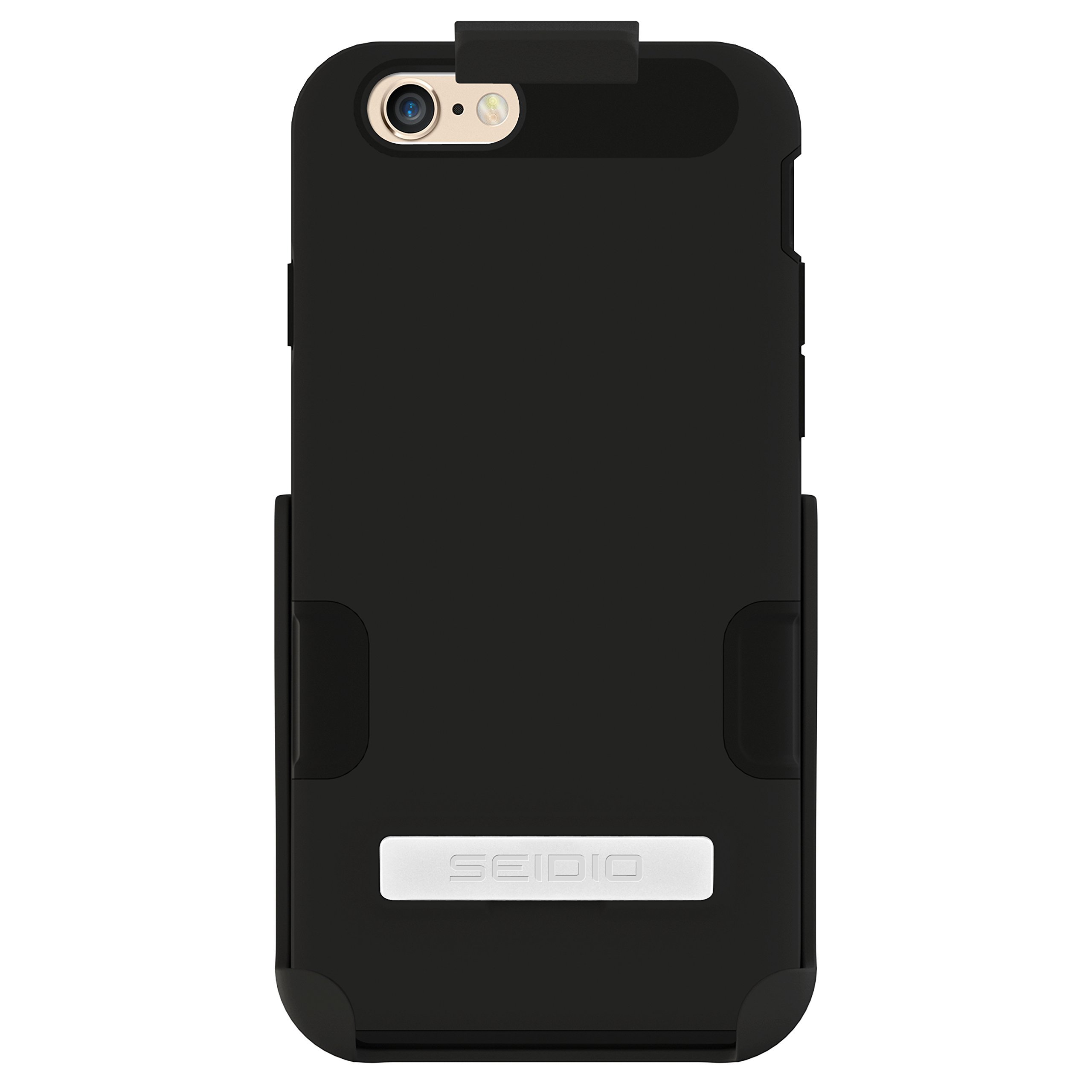 Seidio DILEX Pro Case with Metal Kickstand and Holster Combo for iPhone 6 - Retail Packaging - Black by Seidio