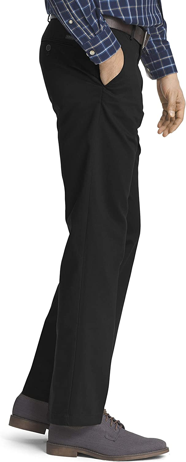 IZOD Men's American Chino Flat Front Straight Fit Pant at  Men's Clothing store