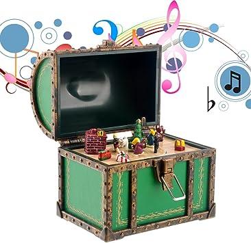Tinksky Divertido Mini cofre estilo caja de música caja Musical ...