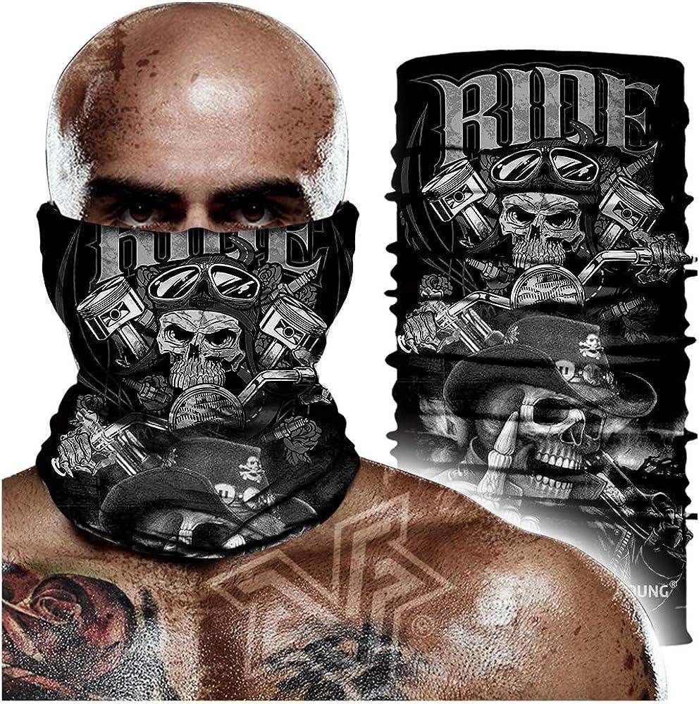 Skull Face Sun Mask Headwear Headband for Fishing Hunting,Yard Work Neck Gaiter