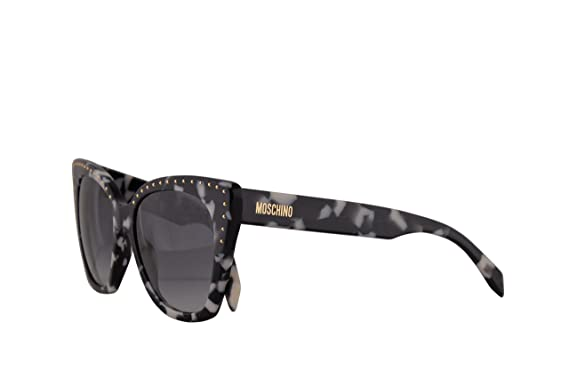 94430103000 Amazon.com: Moschino MOS005/S Sunglasses Black Havana w/Dark Grey ...
