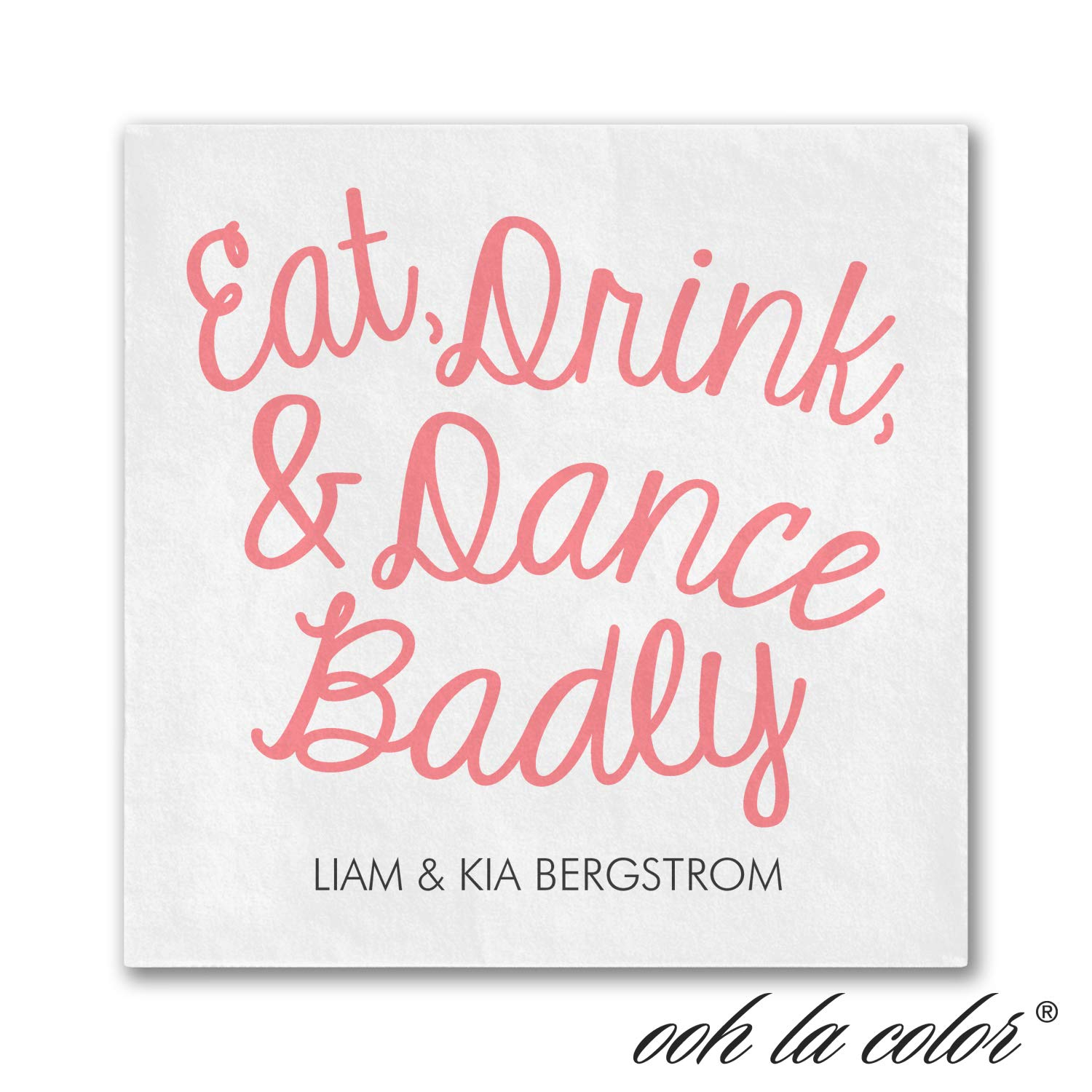 2250pk Eat Drink Dance Badly - Napkin-Personalized Napkins