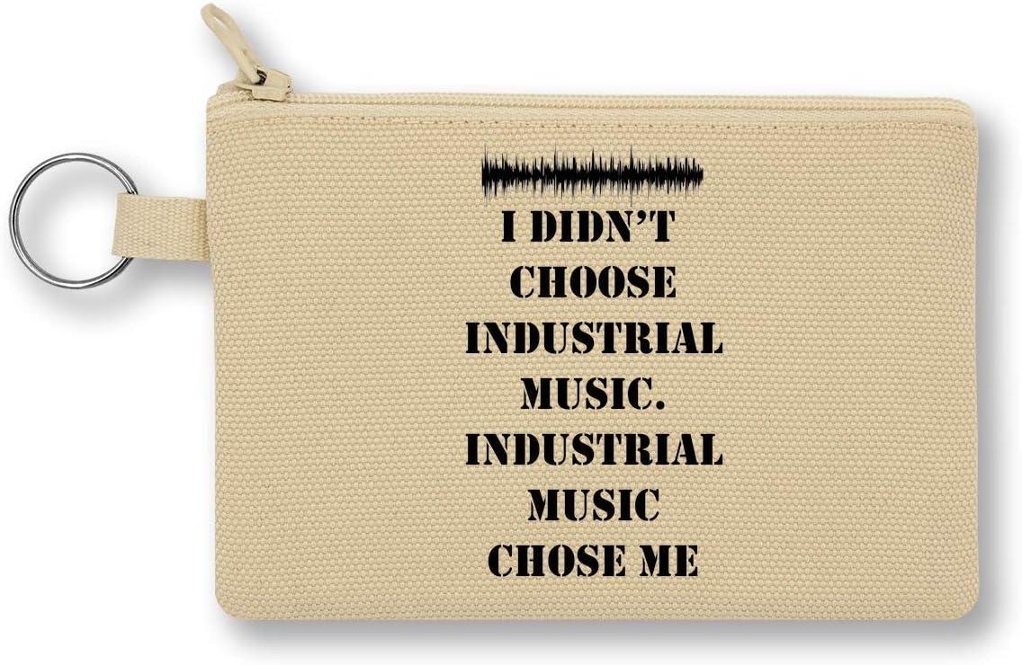 I Didn'T Choose Industrial Music Slogan Monedero de Lona con Cremallera Monedero